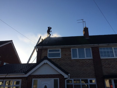 Roof Pressure washing in Birmingham