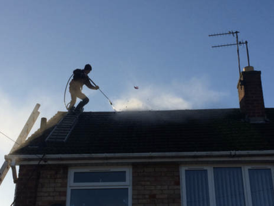 Roof Pressure washing in Lichfield