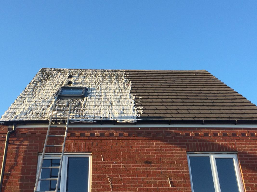 Soft wash roof cleaning in Cannock